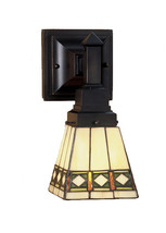 "Meyda Home Indoor Decorative 5""W Diamond Mission Wall Sconce Beige - 123... - $185.40"