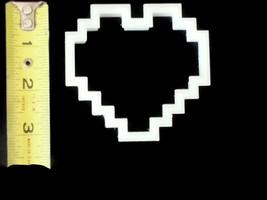 3D Printed 8-Bit Heart Cookie Cutter - $9.99