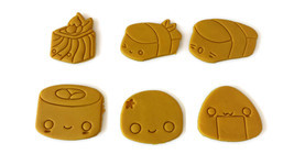 Kawaii Style 3D Printed Sushi Cookie Cutter Set - $29.99
