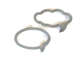 3D Printed Thought and Speak bubble cookie cutters - $9.99