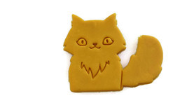 3D Printed Fluffy Cat Cookie Cutter - $9.99