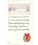 Christmas vintage postcard Owen Co Xmas seal Red Cross 1914440C - $8.00