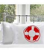 One Red Life Saver Nautical Pillowcase pillow c... - $15.98