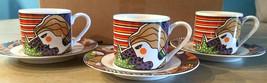 (3) VITROMASTER 1991 Metropolitan Demitasse Cups and Saucers Stoneware sets  - $23.70