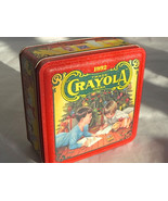 1992 Crayola Tin Box Holiday Wishes Vintage Limited Edition 1st In The S... - $24.99