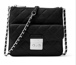 MICHAEL Michael Kors Womens Sloan Leather Quilted Crossbody – Black - $2.123,12 MXN