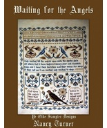 Waiting For Angels cross stitch chart Victorian Motto Sampler Shoppe - $255,79 MXN