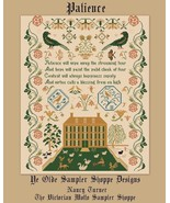 My Patience cross stitch chart Victorian Motto Sampler Shoppe - $255,79 MXN