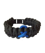 Colon Cancer Awareness Ribbon 550 Paracord Survival Bracelet - $10.99
