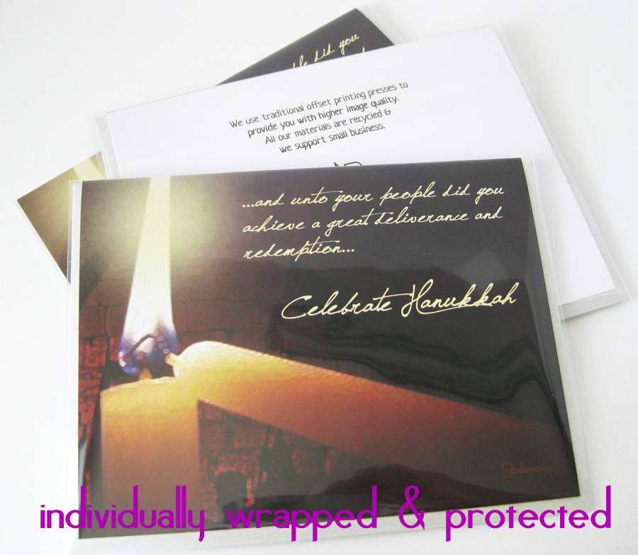 Light of the Candles Hanukkah Holiday Card