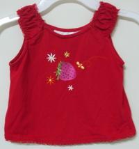 Girls Toddler Wonder Kids Red Sleeveless Top Size 4T - $3.95