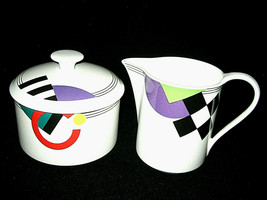 MIKASA MAXIMA High Spirits Sugar Bowl & Creamer CAK12 JAPAN Excellent LOOK - $49.99
