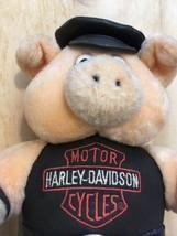 VINTAGE Harley Davidson Plushy Pig Hog Stuffed Animal Play By Play 1993  - $10.40