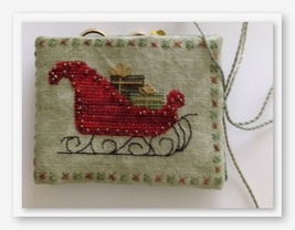 Sleigh Ride Needle Book cross stitch kit by Fern Ridge Collections - $36.00