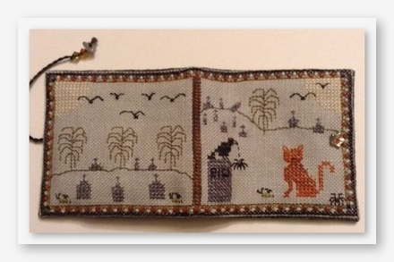 Night Prowlers Needle Book cross stitch kit by Fern Ridge Collections