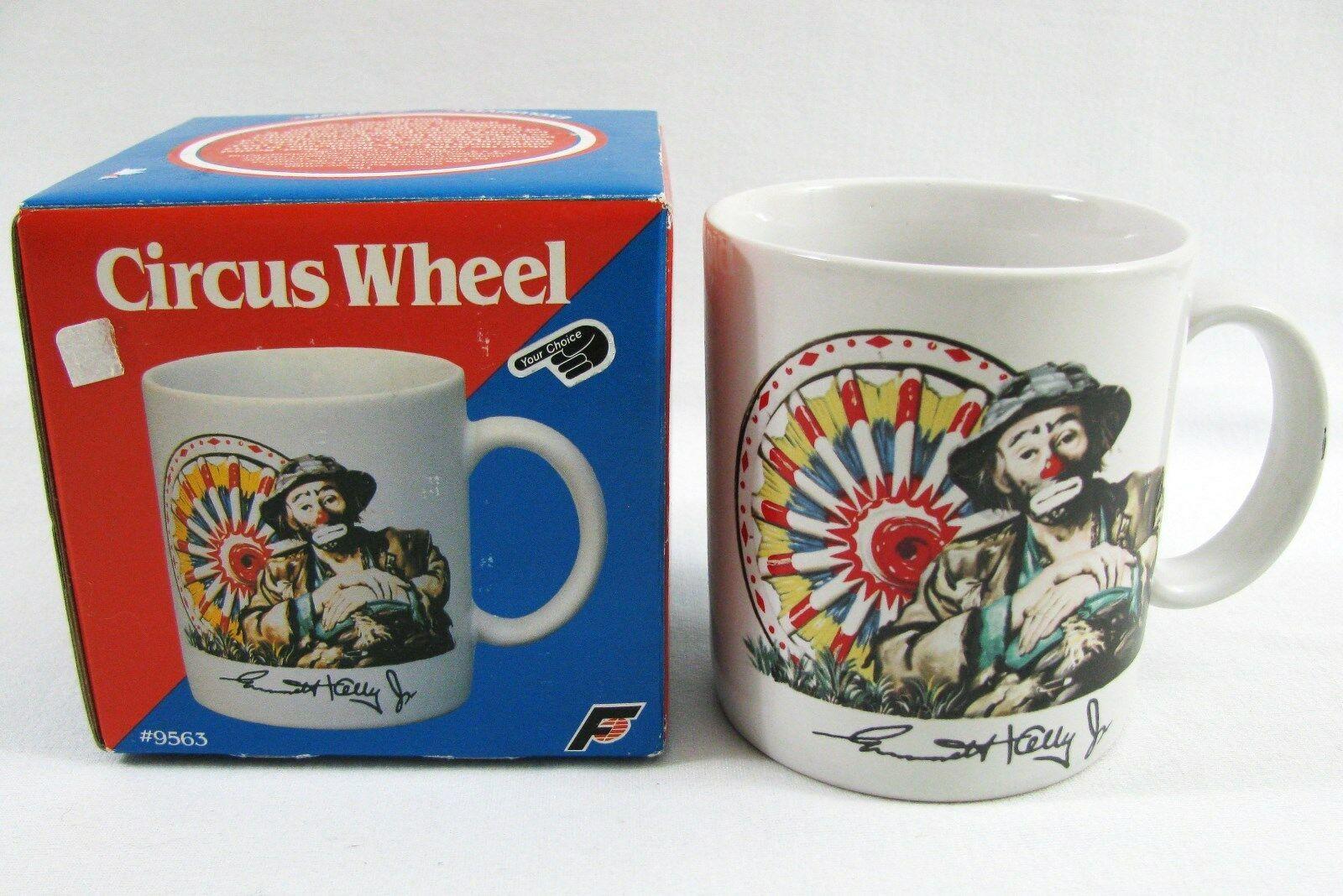 VTG EMMETT KELLY JR  Coffee Mug Clown Circus Ferris Wheel Ceramic FLAMBRO 1987 - $9.89