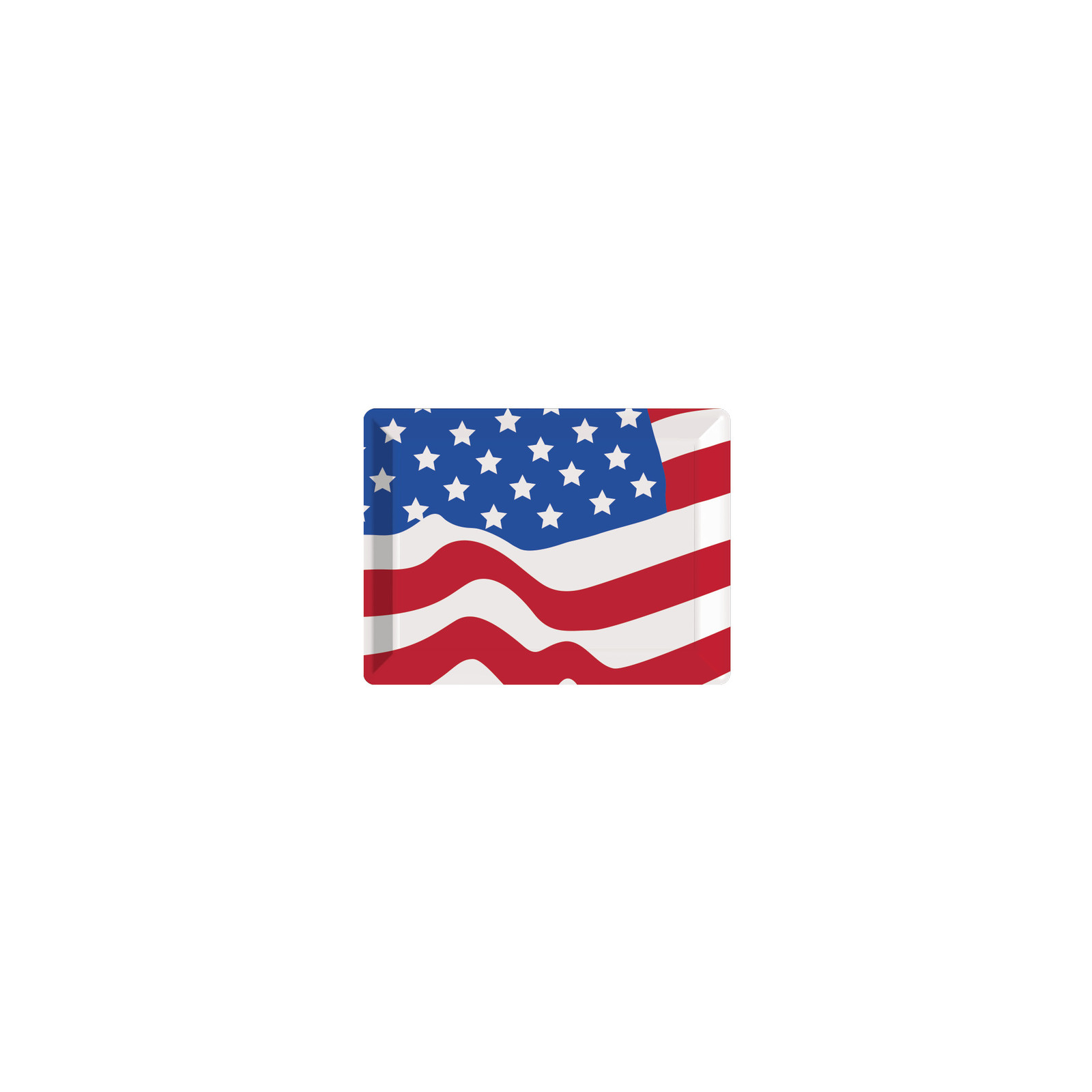 "10"" x 14"" Flag Plastic Tray/Case of 12"