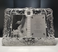 "Mikasa Cherished Moment 5"" x 7"" Crystal Frame Double Insert  NIB - $28.04"