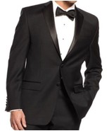 "$375 New Lauren Ralph Lauren Mens Black Tuxedos Jacket 46 LONG ""LYRR1TS1... - $49.49"