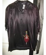 Rock Steady Heart with Dagger Satin bowling VLV shirt L - $63.37