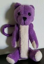 Daking Pez Dispenser ~ PURPLE Bear ~ Clip ~ Keychain ~ Fuzzy Friends ~ 2... - $10.77
