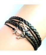 Anchor Infinity Bracelet Anchor charm bracelet ... - $9.00