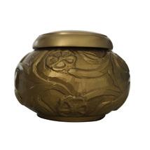 Climbing Roses Golden Cremation Keepsake Urn Ashes - $45.00