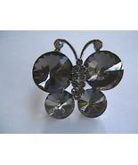 Vintage Adjustable Smoky Grey Ravioli Fashion Ring - $12.00