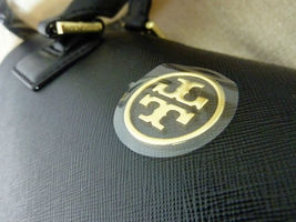NWT Tory Burch Classic Black Saffiano Robinson Middy Satchel + Wallet $800 image 9