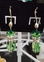 Swarovski Peridot Crystal Dangle Earrings - $30.00