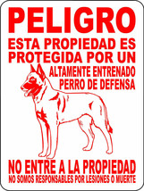 2101 peligro esta propiedad 9 X 12 ALUMINUM SIGN,SECURITY,WARNING, - $14.49
