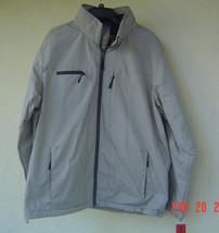 NWT IZOD BEIGE STONE HOOD MEN FALL COAT  JACKET SIZE XL $130 image 2