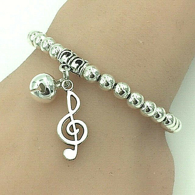 Primary image for Musical Note Charm Bracelet Antique Silver NEW