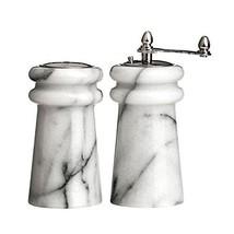 Premier Housewares 10.2cm White Marble Lighthouse Salt Shaker & Pepper #dff - £36.97 GBP