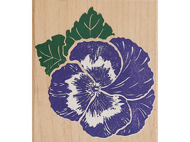 Rubber Stampede 1996 Pansy Wood Mounted Rubber Stamp #Z755E