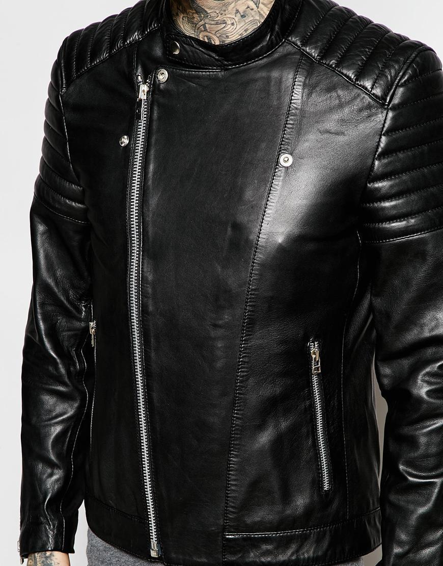 NEW MEN'S GENUINE LAMBSKIN LEATHER MOTORCYCLE JACKET SLIM FIT BIKER JACKET - $109.99