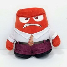 "Disney Store Plush Inside Out Anger Pixar Stuffed Animal Red 6"" Tomy - $14.84"