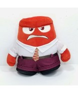 """Disney Store Plush Inside Out Anger Pixar Stuffed Animal Red 6"""" Tomy - $14.84"""