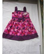 Izzy Bella Pink Purple Polka Dot 100% Cotton Dress Size 4T NWT - $22.76