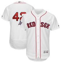 Men's Boston Red Sox #42 Majestic White Stitch baseball jersey white - $39.66