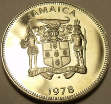 Rare Proof Jamaica 1978 10 Cents~Only 6,058 Minted~Butterfly~Free Shipping - $6.33