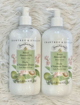 Lot of 2 Crabtree & Evelyn Sweet Almond Oil Body Lotion 16.9 oz With Pum... - $49.95