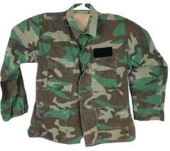 US Military Issue Army BDU Woodland Camo Shirt Size Medium Regular  - $13.10