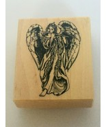 PSX Mounted Rubber Stamp Angel Playing Flute Music Religious Heavenly G-3510 - $16.99