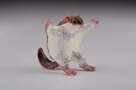 Faberge Squirrel trinket box hand made by Keren Kopal & Austrian crystals  - $79.20