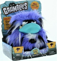 new Grumblies Bolt Purple Interactive Pet Monster Action Plush Hot Sound... - $18.62