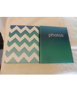 """Pair of Green Slip-In Photo Albums Holds 76 photos each up 4"""" x 6"""" photos - $33.41"""