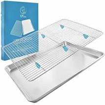 "Baking Sheet with Cooling Rack Set - 18"" x 13"" Pan / 16.8"" x 11.8"" Rack Heavy-Du"