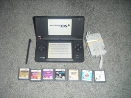 Nintendo DSi BLACK MATTE Handheld System Console and Lot of 7 Games ds - $52.34