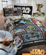 Disney Star Wars Classic Gallery Twin Comforter Sheets Decal 5PC Bedding Set New - $122.10